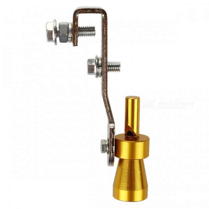 Turbo Sound Exhaust Muffler Pipe Whistle Blow Off Valve BOV Simulator Whistle for 2000CC-2400CC - Size S (10.2x1.8cm)Exhaust Mufflers<br>Form  ColorGoldenModel-Quantity1 DX.PCM.Model.AttributeModel.UnitMaterialAluminumCompatible MakeUniversalCompatible Car Model-External Diameter0 DX.PCM.Model.AttributeModel.UnitInner Diameter0 DX.PCM.Model.AttributeModel.UnitPacking List1 x Turbo Sound Simulator Whistle<br>