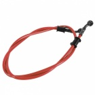Motorcycle Braided Steel Brake Clutch Oil Hose Line Pipe Colorful Fit ATV Dirt Pit Bike - Red (500mm)