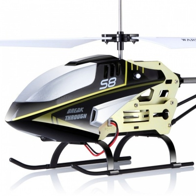 SYMA S8 3CH RC Helicopter Remote Control Toy with Gyro - Black