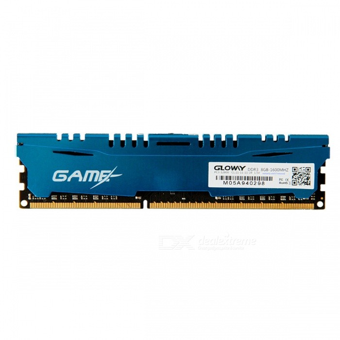 Game-DDR3-8GB-1600MHZ 1600Mzh 8GB Memory RAM Memoria for Gaming, Intel or AMD DesktopForm  ColorGloway DDR3 8GB 1600MhzModelGame-DDR3-8GB-1600MHZQuantity1 DX.PCM.Model.AttributeModel.UnitMaterialN/APacking List1 x Game-DDR3-8GB-1600MHZ 8GB Memory<br>