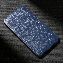 USAMS Mosaic Surface 10000mAh Power Bank External Battery with Dual USB for Cell Phone, Tablet PC - Blue