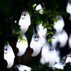 Outdoor Waterproof 30-LED Ghost Solar String Lights for Garden, Patio Yard, Christmas, Parties - Cold White Light