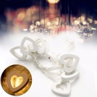 8-LED Heart Shaped LED String Fairy Light for Holiday, Party, Birthday, Wedding, Christmas, Home Decoration - Warm White Light