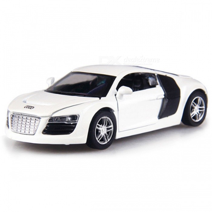 R8 1:32 Scale 14cm Alloy Super Car Toy for Children - WhiteEducational Toys<br>Form  ColorWhiteModelR8MaterialAlloy, PlasticQuantity1 DX.PCM.Model.AttributeModel.UnitSuitable Age 3-4 years,5-7 years,8-11 yearsPacking List1 x Car<br>