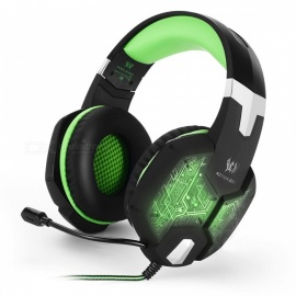 KOTION EACH G1000 Gamer Gaming Wired Earphone Headset with Mic - Green