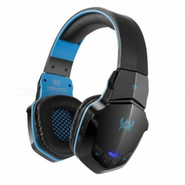 KOTION EACH B3505 Wireless Bluetooth Stereo Gaming Headphones Headset - Black + Blue