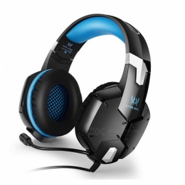 KOTION EACH G1200 3.5mm Game Headset Noise Canceling Headband Headphones - Blue