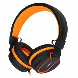 Sound Intone I35 3.5mm Wired Adjustable Headset Earphone with Mic - Black + Orange