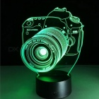 3D Acrylic Entertainment Camera Illusion RGB LED Lamp USB Table Light, Night Light