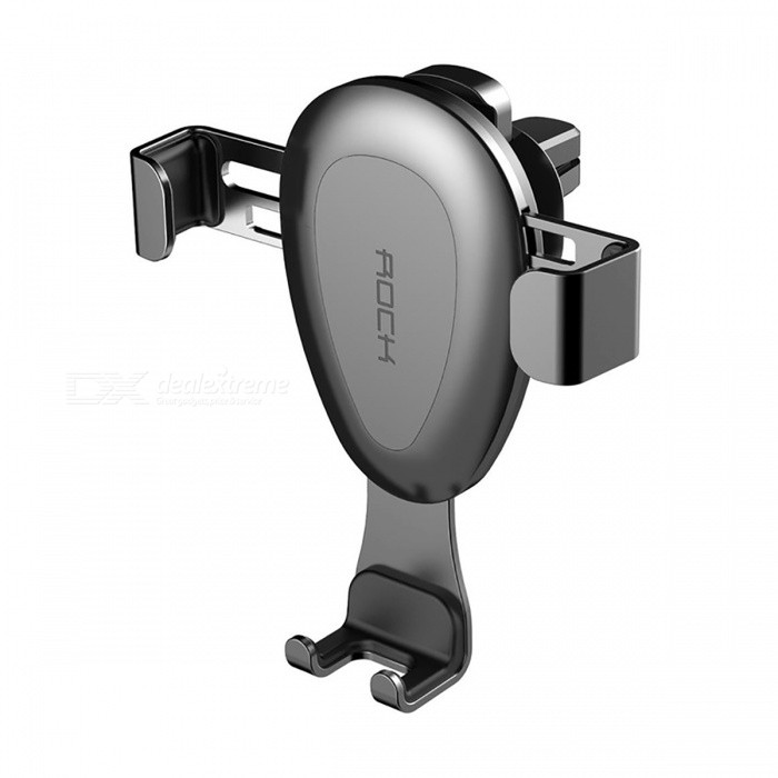 ROCK Gravity Car Air Vent Outlet Holder Stand Bracket for IPHONE Samsung and All 4~6 Inches Smartphones - SilverCar Holders and Organizer<br>Form  ColorSilverModel-Quantity1 DX.PCM.Model.AttributeModel.UnitMaterialMetalShade Of ColorSilverPacking List1 x Car Phone Holder<br>