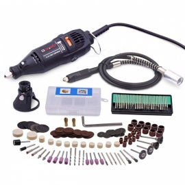 220V 130W Electric Variable Speed Rotary Tool Mini Drill With Flexible Shaft 160Pcs Accessories Tools