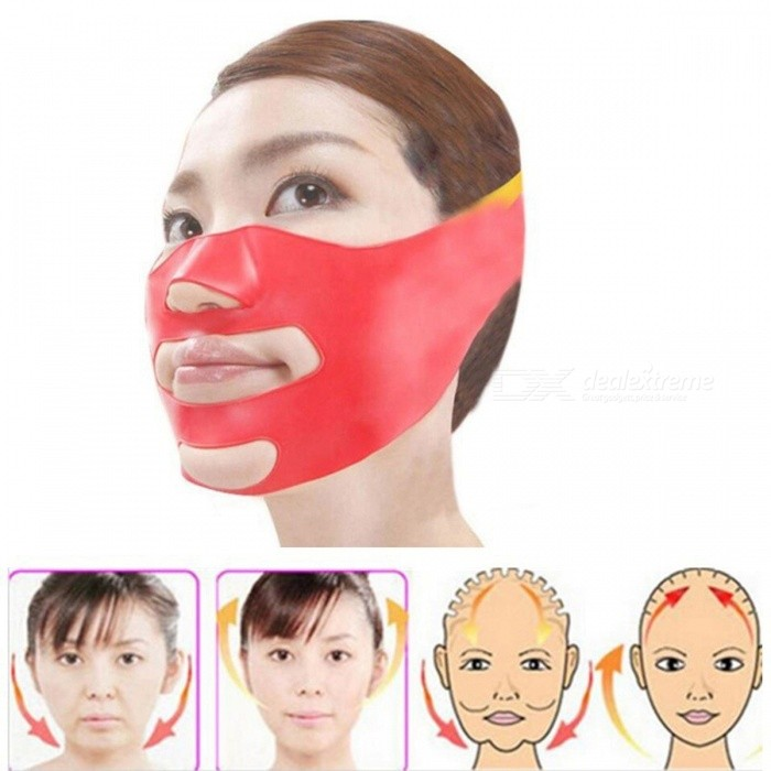 3D V-line Lift Face Bandage Belt, Slimming Facial Double Chin Skin Lifting Slim Massager - RedRelax and Massagers<br>Form  ColorRedMaterialABS &amp; TPRQuantity1 pieceShade Of ColorRedMassager PartFacePrinciple of Massage/Control Mode/Number of Massage Heads1 setThermotherapy FunctionNoTiming FunctionNoPower SupplyOthersPower AdapterWithout Power AdapterPower/ WPacking List1 x Slim Face Belt Face Lifting Tool<br>