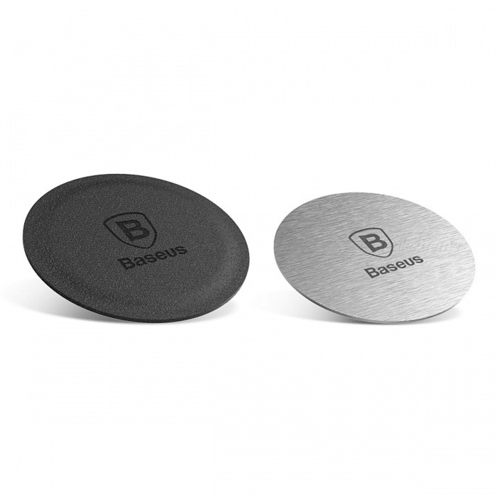 Baseus Magnetic Disk, Metal &amp; Leather Iron Sheets Plate for Magnet Mount Holder (2 PCS)Mounts &amp; Holders<br>Form  ColorIron Sheets ModelN/AMaterialAluminum alloyQuantity1 DX.PCM.Model.AttributeModel.UnitMount TypeOthers,-Compatible ModelsUniversalCompatible Size(inch)For Magnet Mount HolderPacking List1 x Leather Iron Sheet1 x Metal Iron Sheet<br>