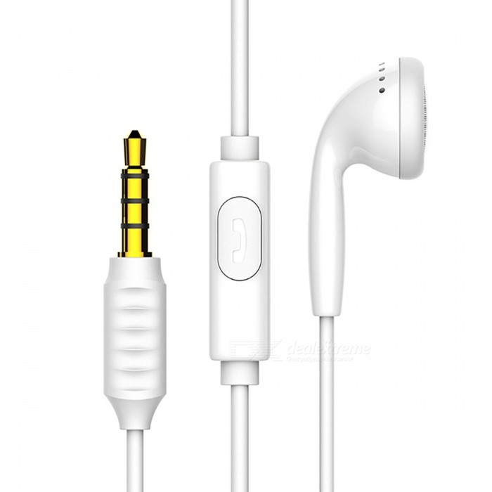 Baseus Single In-Ear Earphone with Mic Jack 3.5mm Wired Stereo Headset Earbuds Earphone - WhiteHeadphones<br>Form  ColorWhiteBrandOthers,BaseusModelH09MaterialTPEQuantity1 DX.PCM.Model.AttributeModel.UnitConnection3.5mm WiredBluetooth VersionOthers,-Cable Length120 DX.PCM.Model.AttributeModel.UnitHeadphone StyleEarbud,In-EarWaterproof LevelOthers,-Applicable ProductsUniversalHeadphone FeaturesPhone Control,Volume Control,With Microphone,PortableSupport Memory CardNoSupport Apt-XNoSensitivity101dBFrequency Response20-20000HzImpedance16 DX.PCM.Model.AttributeModel.UnitPacking List1 x Earphones<br>