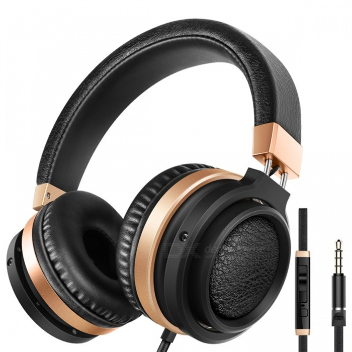 Sound Intone C9 Portable Headphones Stereo Bass Headset - Black + GoldenHeadphones<br>Form  ColorBlack + GoldBrandOthers,Sound IntoneModelC9MaterialPlasticQuantity1 DX.PCM.Model.AttributeModel.UnitConnection3.5mm WiredBluetooth VersionNoCable Length150 DX.PCM.Model.AttributeModel.UnitHeadphone StyleBilateral,HeadbandWaterproof LevelOthers,SweatproofApplicable ProductsUniversalHeadphone FeaturesPhone Control,Long Time Standby,Noise-Canceling,Volume Control,With Microphone,PortableSupport Memory CardNoSupport Apt-XNoSensitivity105+-3dBFrequency Response20-20000HzImpedance32 DX.PCM.Model.AttributeModel.UnitPacking List1 x Headphones<br>