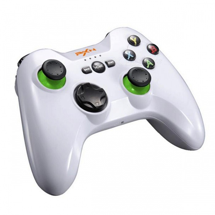 PXN 9603 2.4GHz Wireless Dual Vibration Joystick Controller Gamepad for PS3 Android Phones Tablet PCs - WhiteGame Gadgets<br>Form  ColorWhiteModelPXN-9603Quantity1 DX.PCM.Model.AttributeModel.UnitMaterialPlasticShade Of ColorWhiteCompatible ModelsFor PS3, Andriod Phone, Tablet PCCompatible SystemAndroid,Windows Phone,WindowsSupported OS VersionAndroid 4.0+, Windows 2000/XP/Vista/Windows 7/8/10Connection2.4GRootOthers,-Packing List1 x Gamepad 1 x Manual<br>