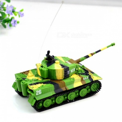 1:72 Vivid High Simulated Great Wall RC Remote Control Tank Toy for Kids - Light Green