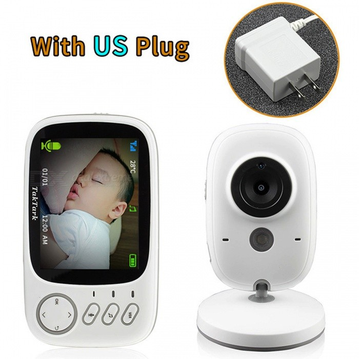 Wireless Digital Video Camera Baby Monitor with 3.2 Inch LCD Display - US PlugBaby Monitor<br>Form  ColorWhitePower AdapterBM603 US BModelBM603Material/Quantity1 DX.PCM.Model.AttributeModel.UnitPixel320x240Lens3.6mmPicture Resolution320x240Video Resolution320x240Frame Rate/Image SensorCMOSVideo Compressed Format/Night VisionYesViewing AngleOthers,45 DX.PCM.Model.AttributeModel.UnitWater-proofYesRotationOthers,45 DX.PCM.Model.AttributeModel.UnitMobile Phone platformN/AForm  ColorWhitePower AdapterBM603 US BPacking List1 x Monitor1 x Camera2 x Power adapters1 x User Manual<br>