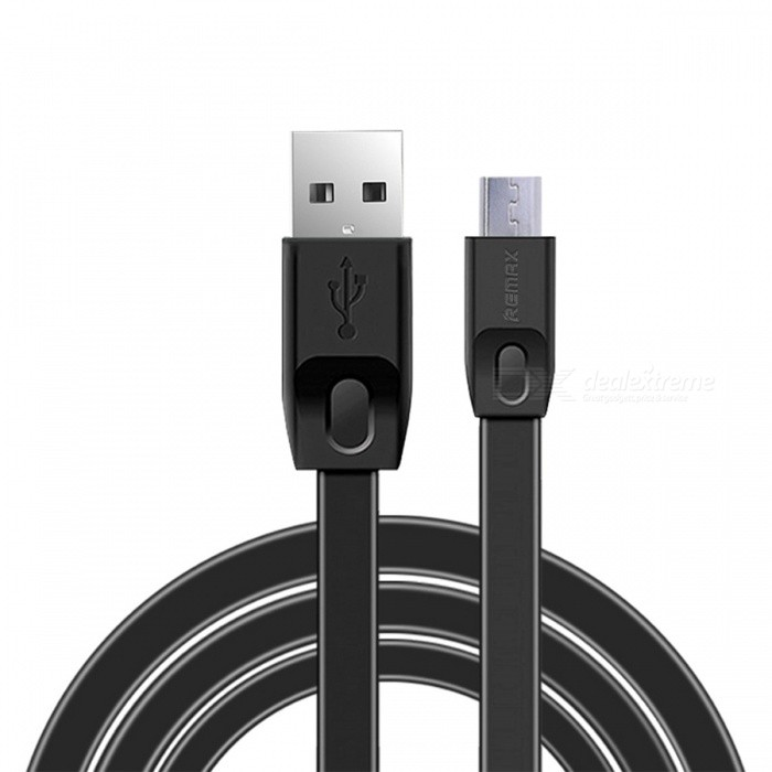 Remax Full Speed 2.1A Micro USB Data Sync Fast Charge Charging Cable - BlackCables<br>Form  ColorBlackMaterialTPEQuantity1 DX.PCM.Model.AttributeModel.UnitCompatible ModelsUniversalCable Length200 DX.PCM.Model.AttributeModel.UnitConnectorMicro USBLengthOtherPacking List1 x Cable<br>
