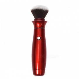 Electric Professional Makeup Brush with 360 Degree Rotating Head - Red