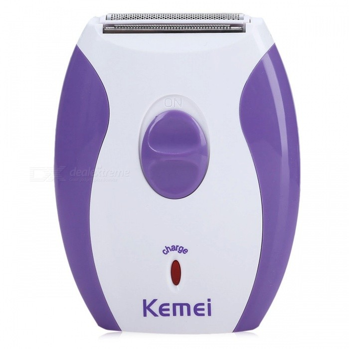 Kemei Women's Rechargeable Epilator, Electric Shaver Razor for Face Body Hair Removal - EU Plug