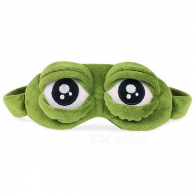 Funny 3D Sad Frog Sleep Mask, Rest Travel Relax Sleeping Aid Blindfold, Ice Cover Eye Patch