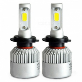 H4/9003/HB2 Hi-Lo Beam COB Chip 6500K 72W 8000LM Auto Car Light LED Headlight, Lamp Bulb (2 PCS)