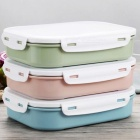 Japanese Style 304 Stainless Steel Lunch Box with Three Compartments Bento Box Picnic Food Container for School Kids - Blue