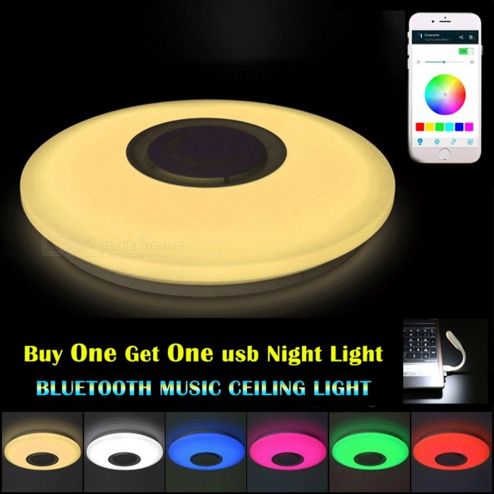 36w Color Changing Led Ceiling Light With Bluetooth Control For Living Room Bedroom