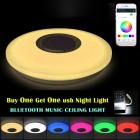 36W Music Color-Changing LED Ceiling Light with Bluetooth Control for Living Room, Bedroom