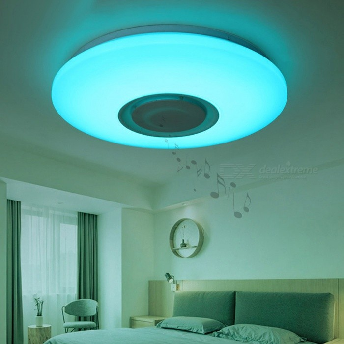 36w Music Color Changing Led Ceiling Light With Bluetooth