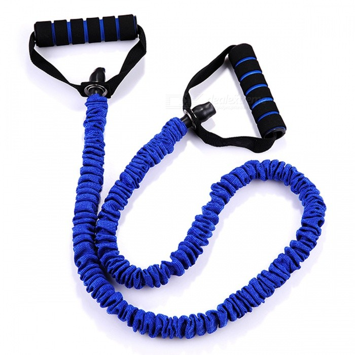 Elastic Rope Chest Expander Power Gripper Yoga Strength Exerciser Training Hand Fitness Equipment - BlueForm  ColorBlueModel-Quantity1 DX.PCM.Model.AttributeModel.UnitMaterialTPEGenderUnisexScreen Size- DX.PCM.Model.AttributeModel.UnitPacking List1 x Training Rope<br>