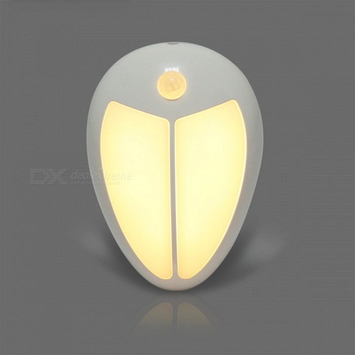 Mini Wireless Infrared Motion Sensor Baby LED Night Light, Porch Wall Lamp for Bedroom Hallway Cabinet Stairwells - Warm WhiteLED Nightlights<br>Form  ColorWarm WhiteMaterialABSQuantity1 DX.PCM.Model.AttributeModel.UnitPowerOthers,0.6WRated VoltageOthers,4.5 DX.PCM.Model.AttributeModel.UnitColor BINWarm WhiteEmitter TypeLEDTotal Emitters5Actual Lumens70 DX.PCM.Model.AttributeModel.UnitDimmableNoBeam Angle120 DX.PCM.Model.AttributeModel.UnitInstallation TypeWall MountPacking List1 x LED Night<br>