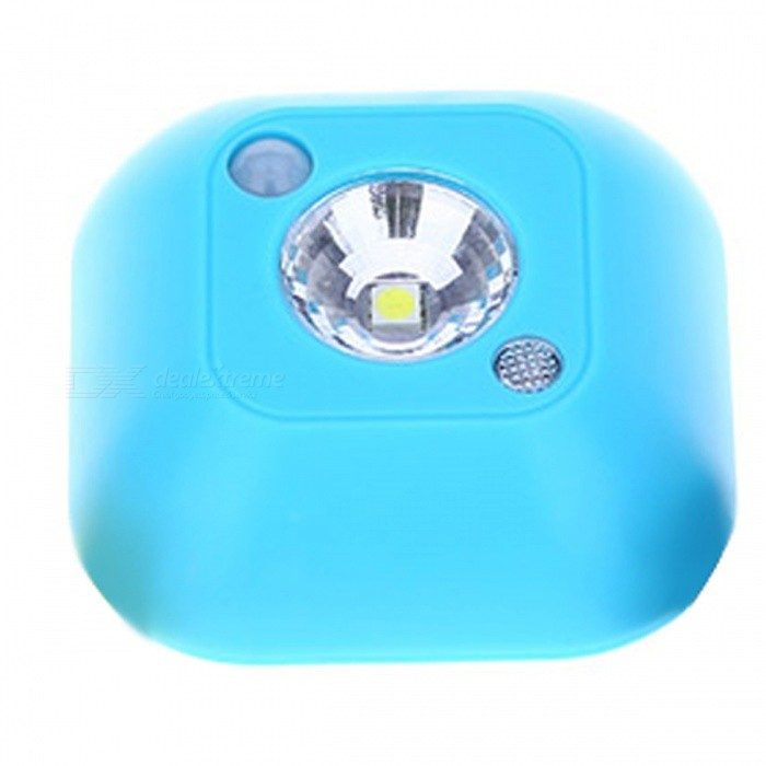 Mini Wireless Infrared LED Motion Sensor Adhesive Ceiling Night Light, Battery Powered Porch Cabinet Lamp - Water BlueLED Nightlights<br>Form  ColorNavy BlueMaterialABSQuantity1 DX.PCM.Model.AttributeModel.UnitPowerOthers,0.5WRated VoltageOthers,4.5 DX.PCM.Model.AttributeModel.UnitColor BINWhiteEmitter Type5050 SMD LEDActual Lumens45 DX.PCM.Model.AttributeModel.UnitDimmableNoInstallation TypeWall MountPacking List1 x Mini LED Infrared Motion Sensor Adhesive Ceiling Night Light<br>