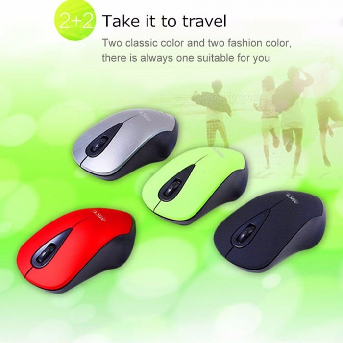 USB Wireless Mouse 1600DPI 3 Buttons Optical Computer Mouse Ergonomic Gaming Mice With 2.4G USB Receiver