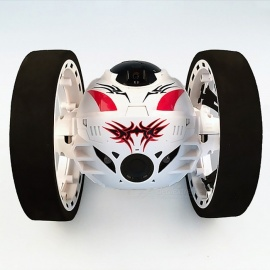 Remote Control Two-Wheel 2.4G Frequency RC Car Toy for Kids - White