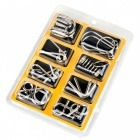8Pcs 8-in-1 Montessori Materials Metal Wire Puzzle Toy for Kids - Yellow