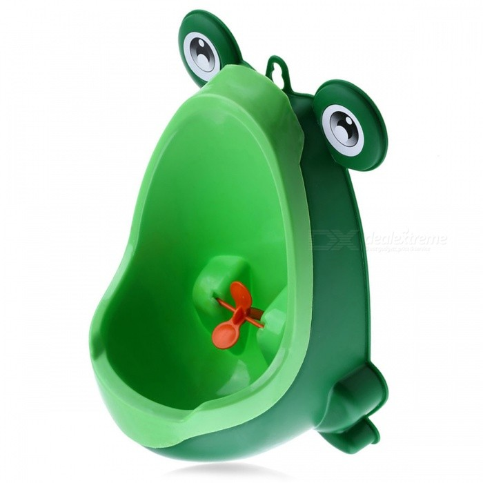 Frog Shape Wall-Mounted Boy Potty Toilet for Infant Baby Toddler, Training Children Boys Stand Vertical Urinal PeePersonal Care<br>Form  ColorGreen AMaterialPlasticQuantity1 DX.PCM.Model.AttributeModel.UnitAge0-3 monthsCertificationN/APacking List1 x Baby Urinal<br>