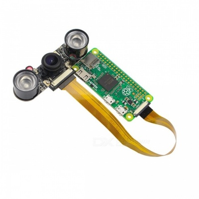 Raspberry Pi Zero 5.0MP Camera Module w/ Night Vision, Wide Angle Fisheye, Infrared IR Sensor LED Lights for RPI Zero