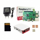 Raspberry Pi 3 Model B Starter Kit, Pi 3 Board / Pi 3 Case / EU Power Supply / 16GB Memory Card / Heat Sink