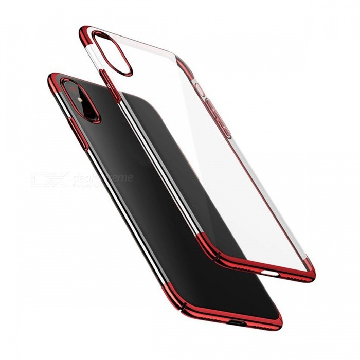 Baseus Protective Ultra Thin Luxury Business Transparency Plastic Cover Case for IPHONE X - RedPlastic Cases<br>Form  ColorRedQuantity1 pieceMaterialPCCompatible ModelsiPhone XDesignTransparentStyleBack CasesPacking List1 x Case<br>
