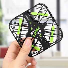 DWI 650 Portable Mini Foldable Pocket-Size 2.4G 4CH 6-Axis UFO RC Drone Quadcopter Toy w/ Gyro for Kids Black+Green