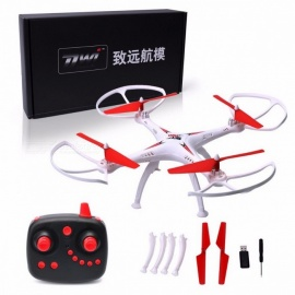 Dwi Dowellin D5 2.4G 4CH 6 Axis RC Quadcopter Drone Professional Remote Control Quadcopter RC Helicopter Red