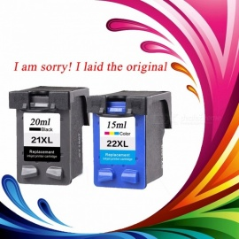 2 Pcs Ink Cartridge for HP 21 22 XL For HP cartridges 21 and 22 for HP Deskjet 3915 D1530 D1320 F2100 F2280 F4100 F4180 printer  BK/M/C/Y