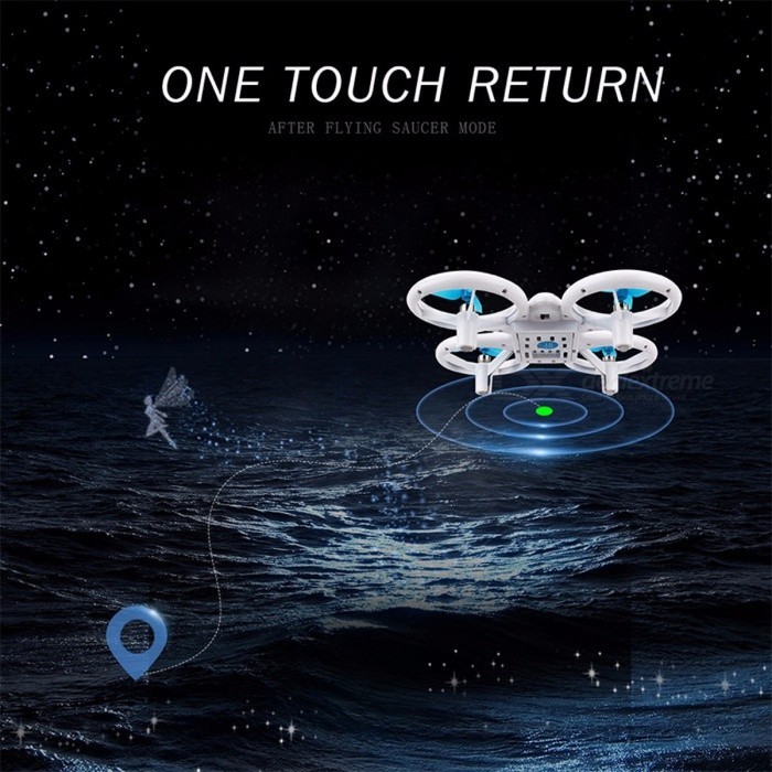 Dwi Dowellin HX759 Mini RC Quadcopter Drone Remote Control Helicopter 2.4GHz 4CH 6 Axis Gyro Nano Drone with Fancy Light