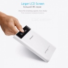 PISEN 18650 Power Bank 20000mAh Portable External Battery Pack Backup Charger LCD Dual USB Powerbank for Phones and Tablets Black