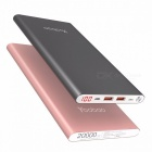 Yoobao A2 Li-Polymer 20000mAh Power Bank Dual USB Output Input Ultra Slim Mobile Portable Battery Charger SR-Add Micro Cable