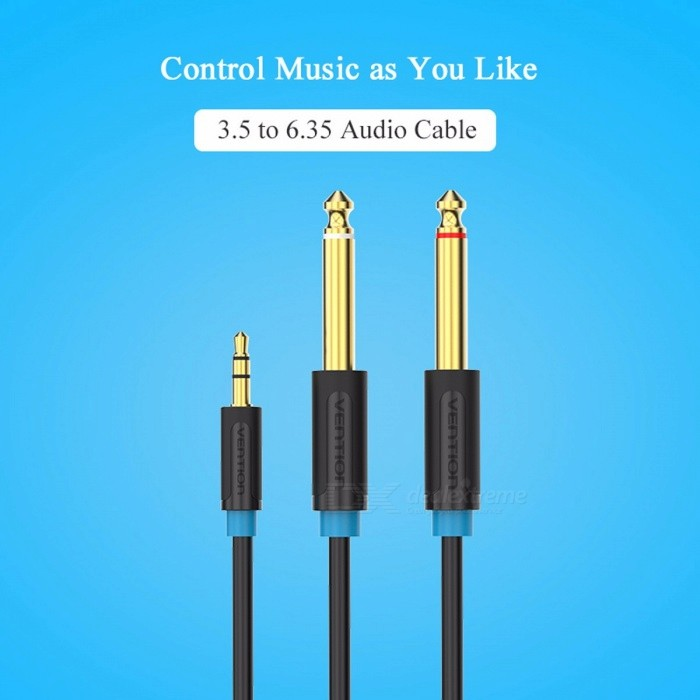 Vention 3.5mm to Dual 6.5mm Audio Adapter Cable Double 6.35mm Male 1/4