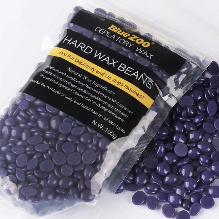 100g Purple Lavender Removal Cream Color No Strip Depilatory Hot Film Hard Wax Pellet Waxing Bikini Hair Removal Bean P2
