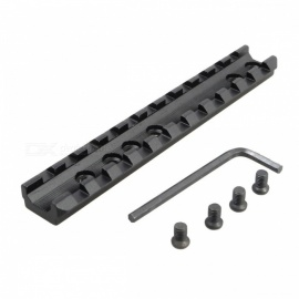 1 Set Tactical Military Picatinny 11 Slots Weaver Rail Scope Mount + 4 Screws/1 Wrench Outdoor Hunting Gun Base Accessories black